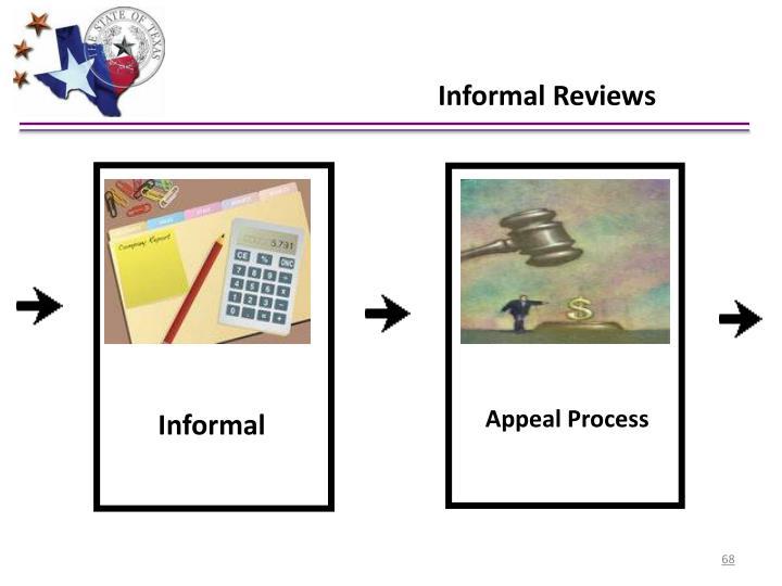 Informal Reviews