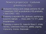 nowsza propozycja adunek glikemiczny gl
