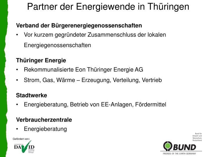 Partner der Energiewende in Thüringen