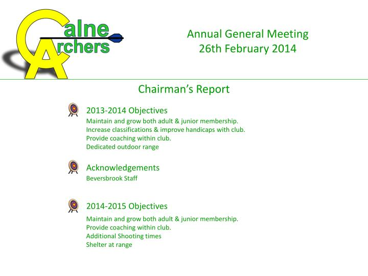 2013-2014 Objectives