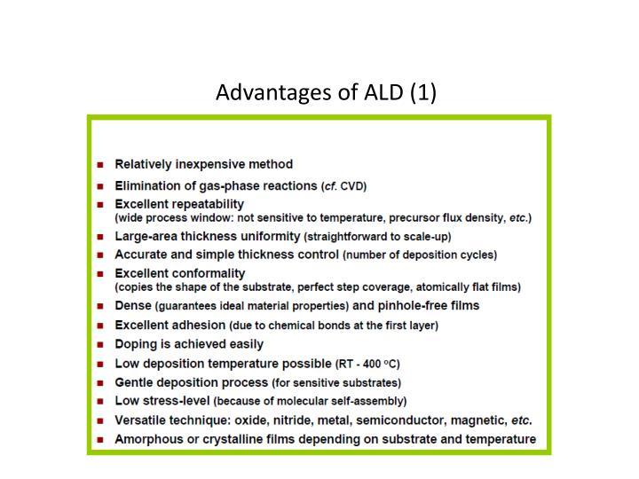 Advantages of ALD (1)