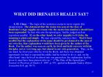 what did irenaeus really say
