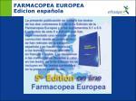 farmacopea europea edicion espa ola