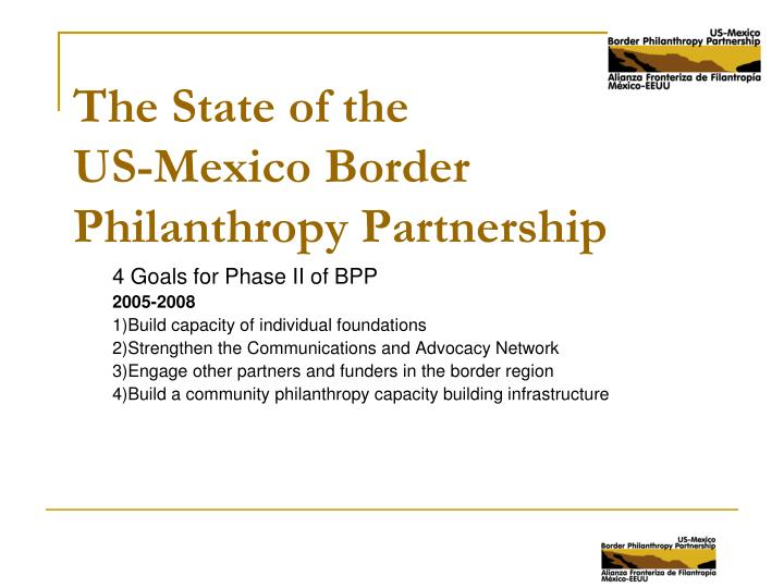 the state of the us mexico border philanthropy partnership n.