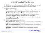 u marf standard user services