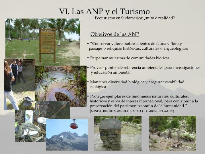 VI. Las ANP y el Turismo