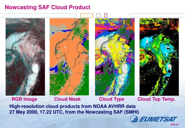 Nowcasting SAF Cloud Product