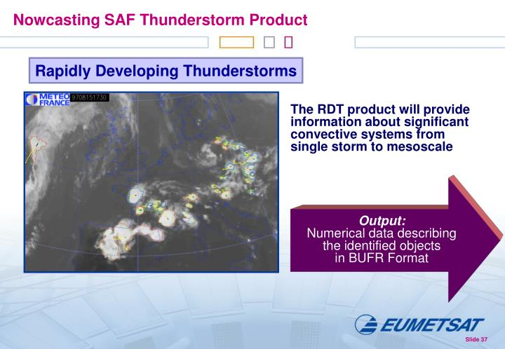 Nowcasting SAF Thunderstorm Product