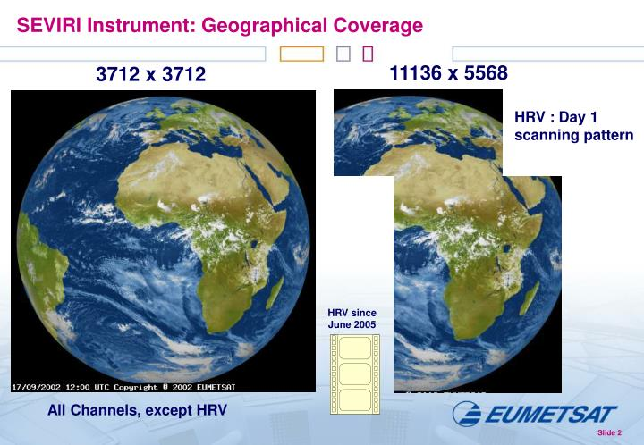 Seviri instrument geographical coverage