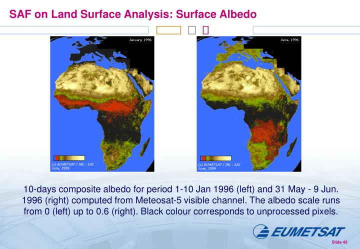 SAF on Land Surface Analysis: Surface Albedo