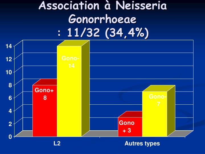 Association à Neisseria Gonorrhoeae