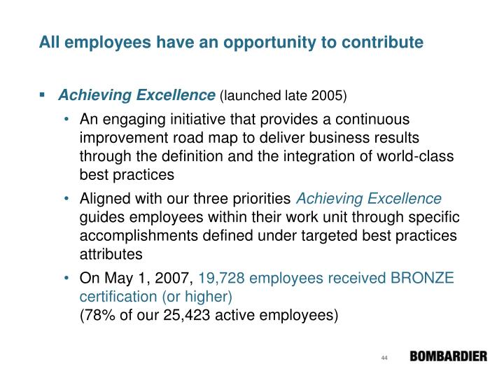 All employees have an opportunity to contribute