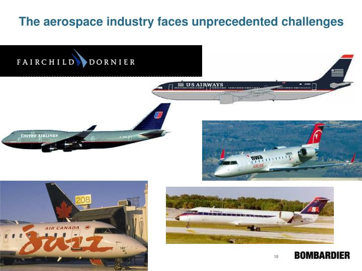 The aerospace industry faces unprecedented challenges