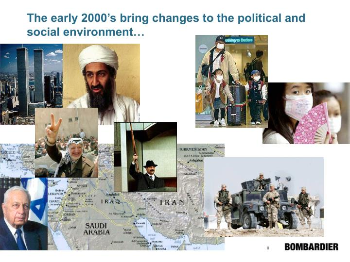 The early 2000's bring changes to the political and social environment…
