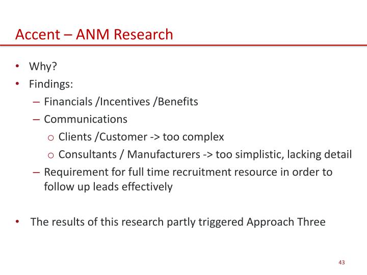 Accent – ANM Research