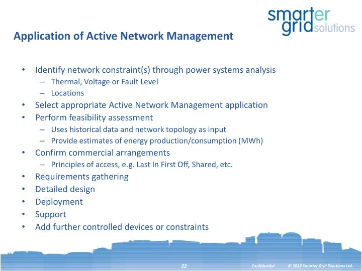 Application of Active Network Management