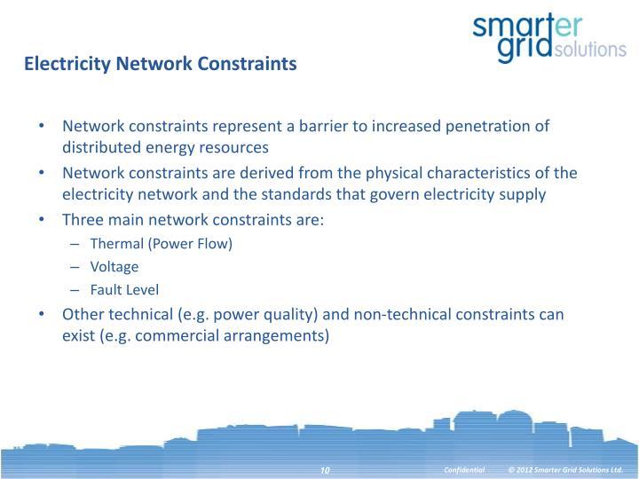 Electricity Network Constraints