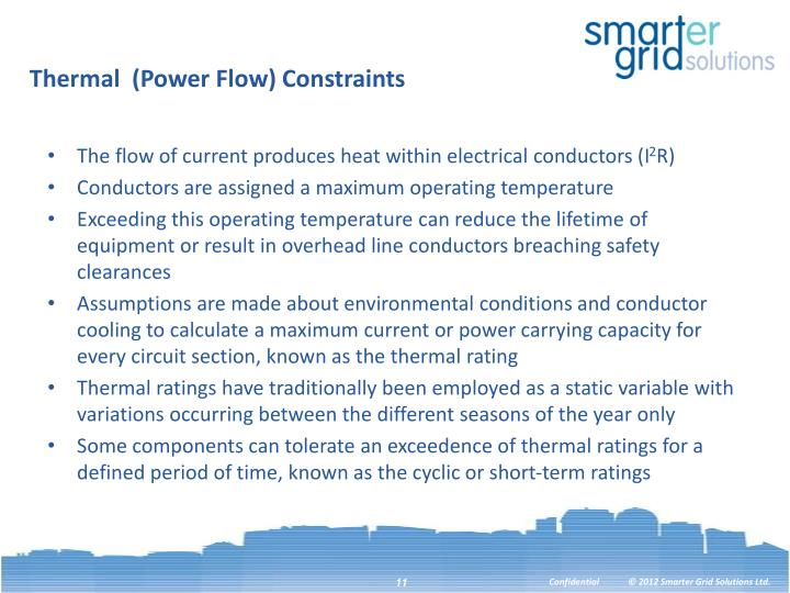 Thermal  (Power Flow) Constraints