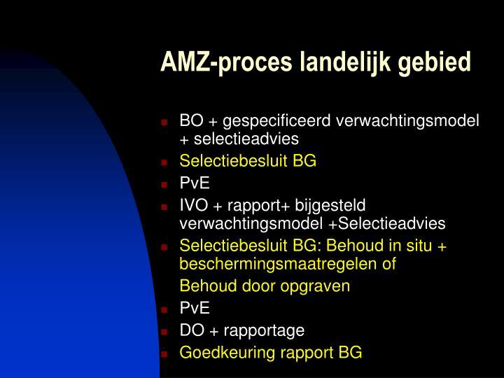 AMZ-proces landelijk gebied