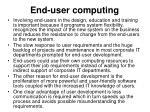 end user computing