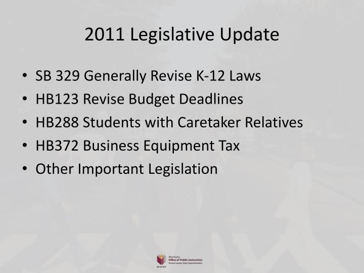 2011 legislative update1