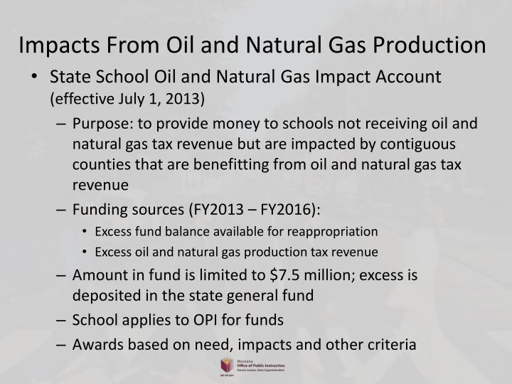 Impacts From Oil and Natural Gas Production