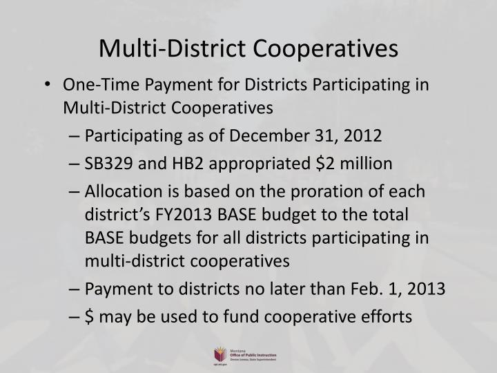Multi-District Cooperatives