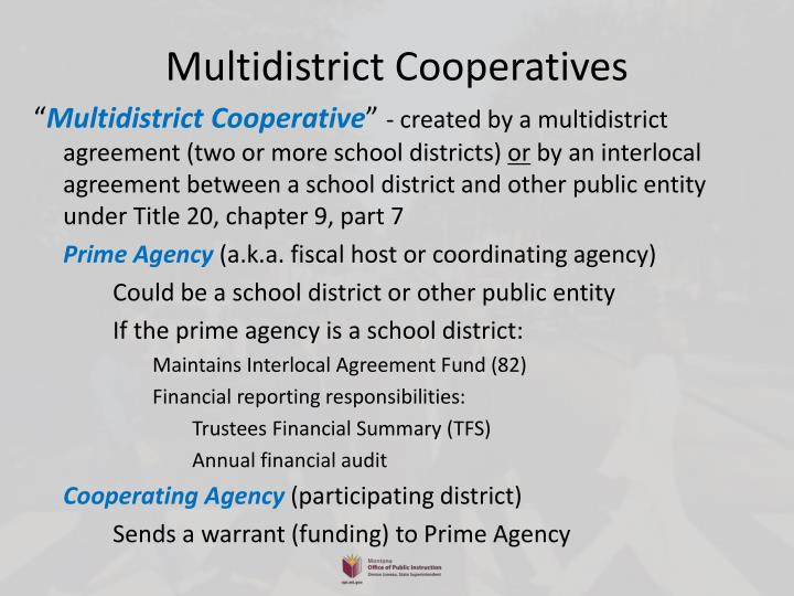 Multidistrict Cooperatives