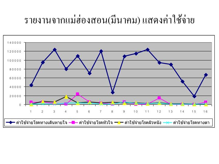 รายงานจากแม่ฮ่องสอน(มีนาคม) แสดงค่าใช้จ่าย