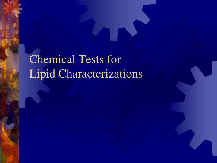 Chemical Tests for