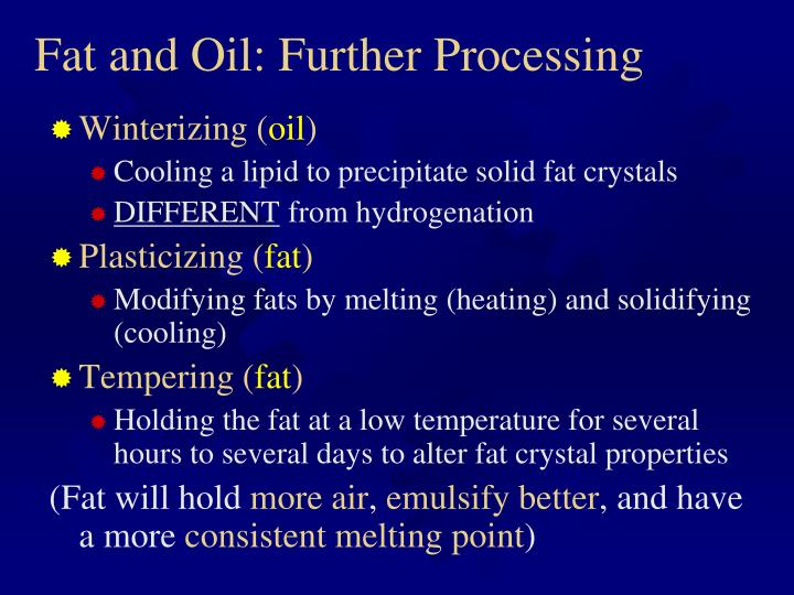 Fat and Oil: Further Processing