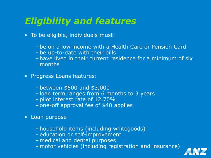Eligibility and features