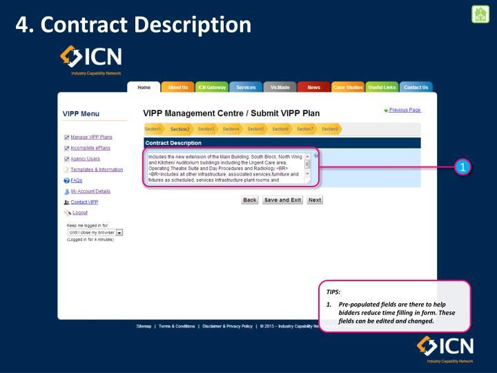 4. Contract Description