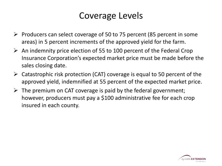 Coverage Levels