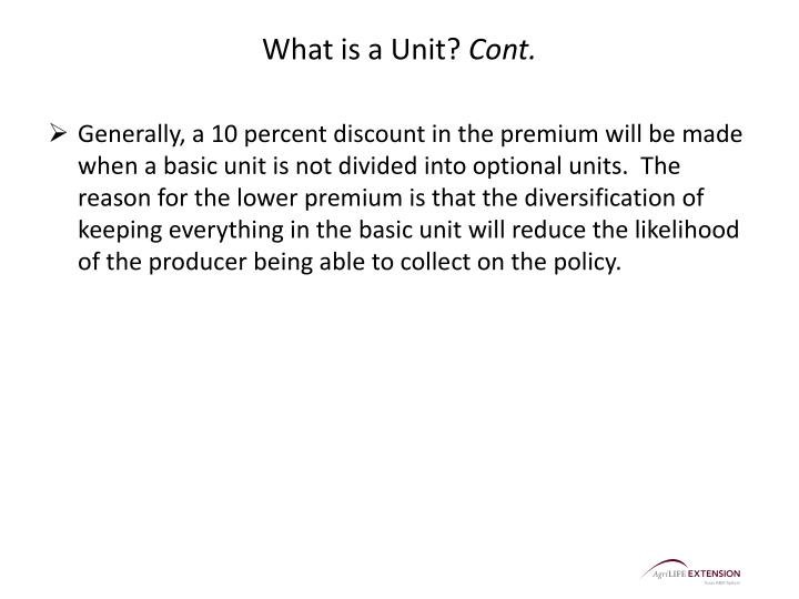 What is a Unit?