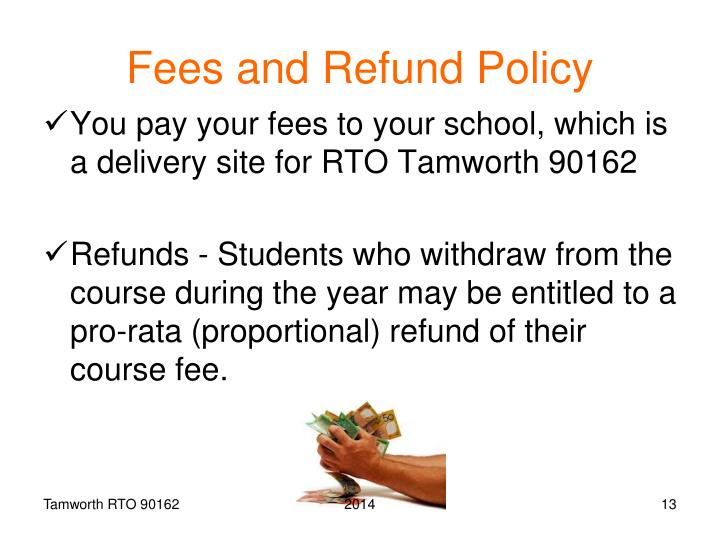 Fees and Refund Policy