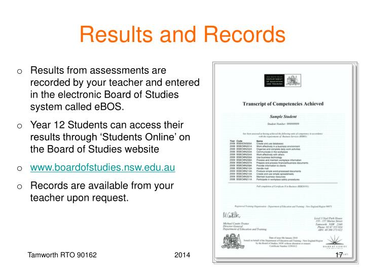 Results and Records