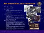 atc information and automation