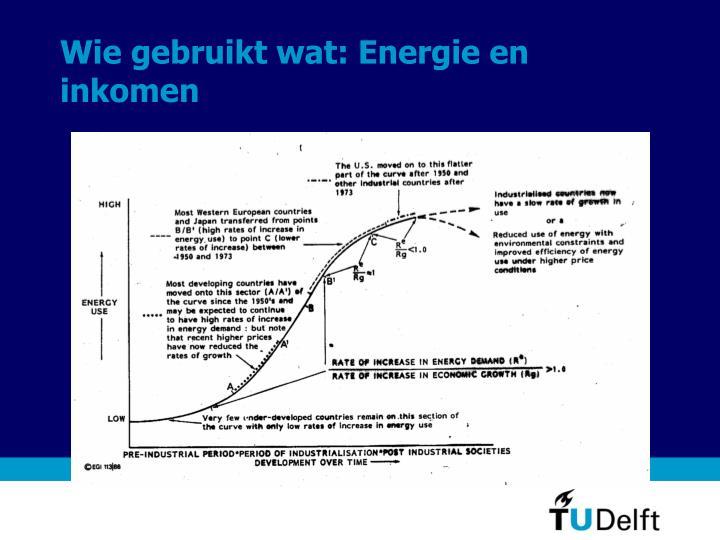 Wie gebruikt wat: Energie en inkomen