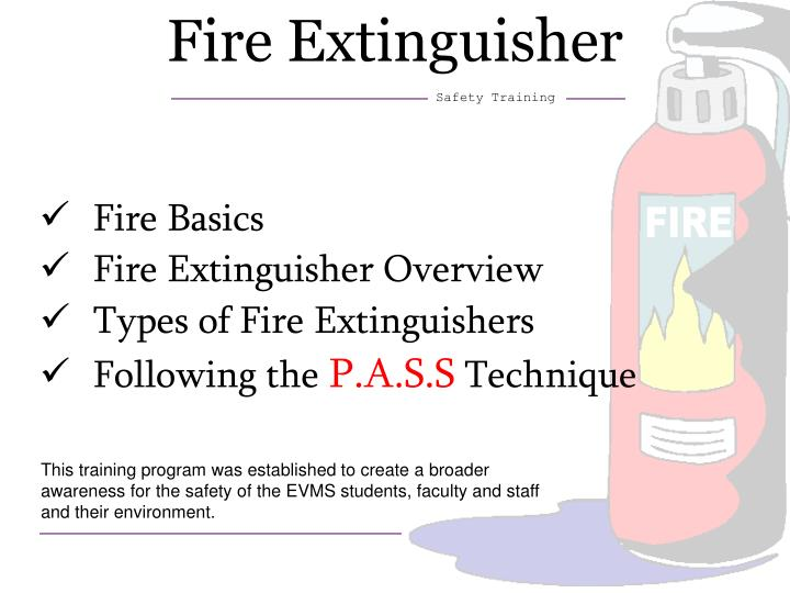 Ppt Fire Extinguisher Powerpoint Presentation Free Download Id 3256530