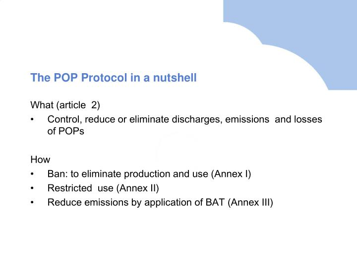 The pop protocol in a nutshell
