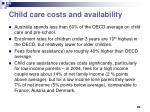 child care costs and availability