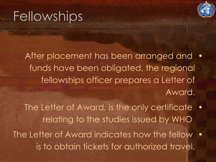 Fellowships