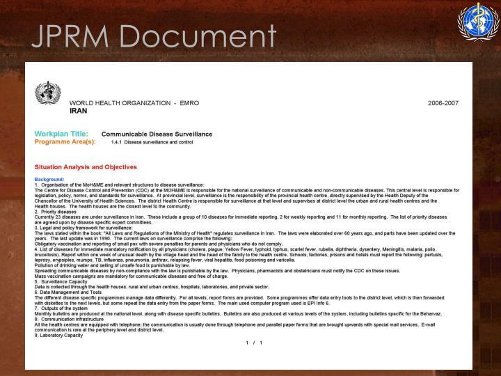 JPRM Document