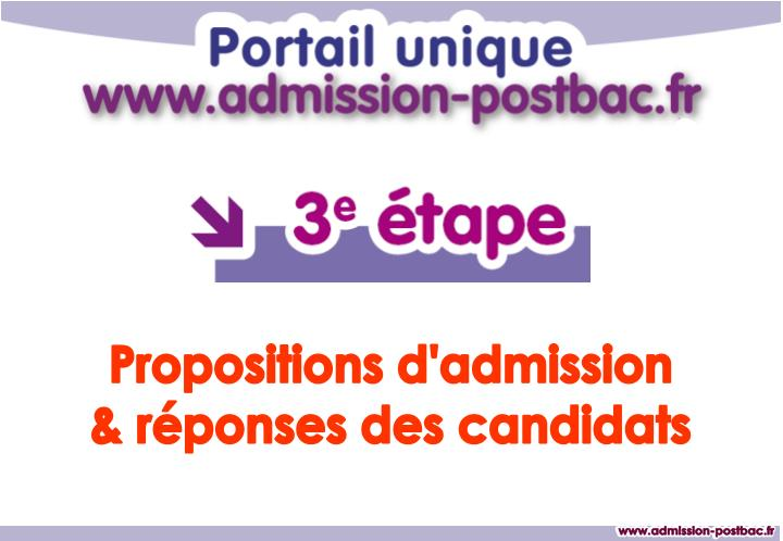 Propositions d'admission