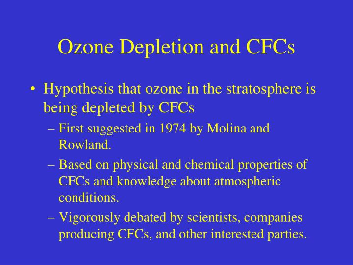 Ozone Depletion and CFCs