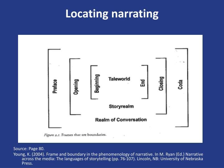 Locating narrating