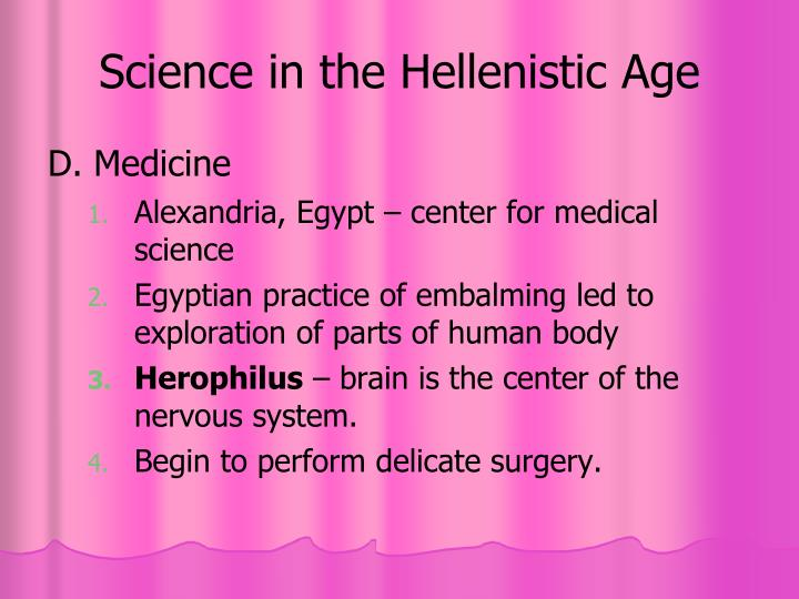 Science in the Hellenistic Age
