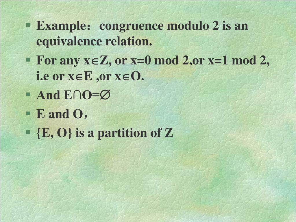 PPT - 2 6 Equivalence Relation PowerPoint Presentation - ID:3256720