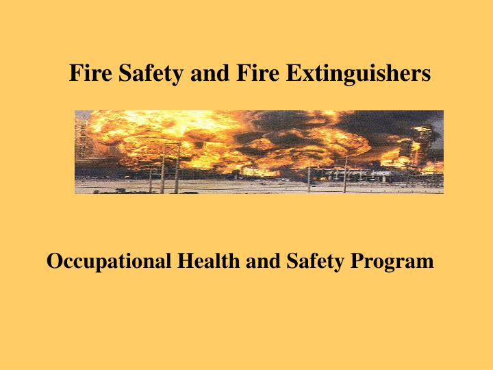 fire safety and fire extinguishers n.